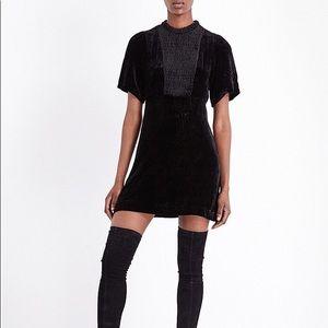 Maje Black Rubia Velvet Dress